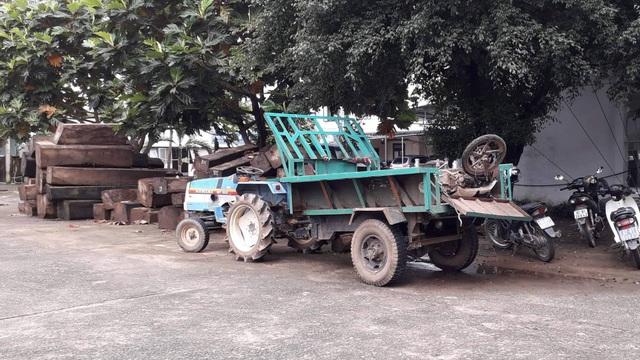Chiếc xe được đưa về công an huyện Đăk Hà