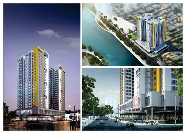 Phối cảnh dự án Rice City Thượng Thanh tại Long Biên mới được cấp phép