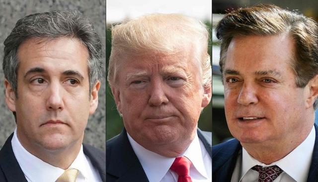 Hai trợ lý thân cận của Tổng thống Trump Michael Cohen (trái) và Paul Manafort (phải). (Ảnh: AFP)