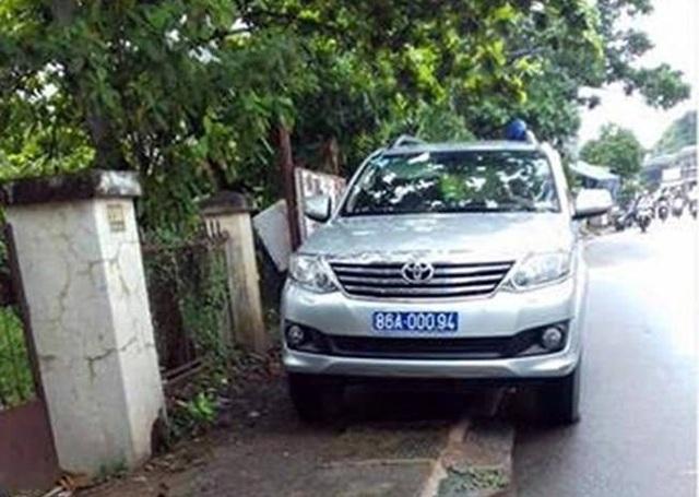 Công an Bình Thuận cho rằng xe đậu ở đây là không vi phạm các quy định pháp luật