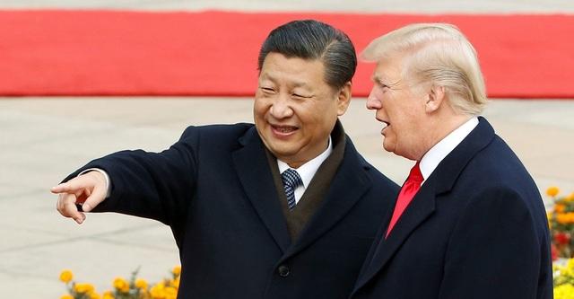 Tổng thống Mỹ Donald Trump và Chủ tịch Trung Quốc Tập Cận Bình gặp nhau tại Bắc Kinh năm 2017 (Ảnh: Reuters)