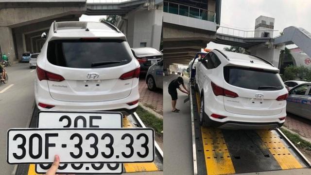 Chiếc Hyundai SantaFe đời 2018 bất ngờ bốc được biển ngũ quý siêu khủng 30F-333.33