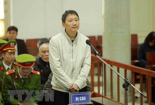 """Trịnh Xuân Thanh bị tuyên án tù chung thân về tội """"Tham ô tài sản"""" trong đó có việc chuyển nhượng cổ phần bất động sản tại dự án Nam Đàn Plaza. Ảnh: TTXVN."""
