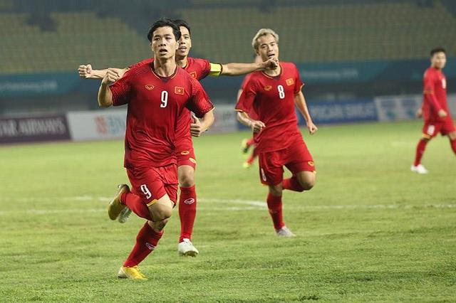 Công Phượng ăn mừng bàn thắng duy nhất vào lưới Bahrain