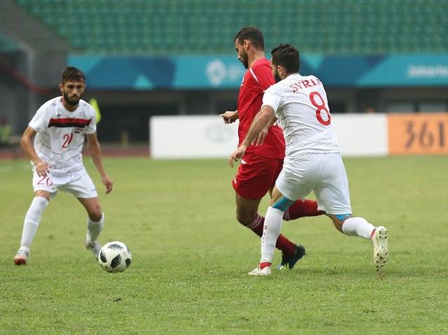 Trận đấu giữa Syria và Palestine diễn ra rất gây cấn