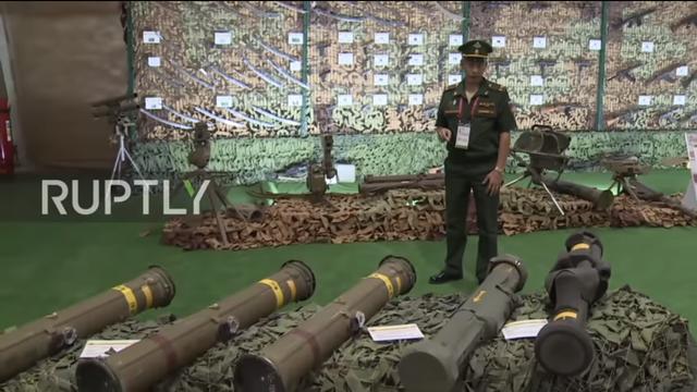 Vũ khí chống tăng được Nga trưng bày tại triển lãm quân sự Army 2018. (Ảnh: Ruptly)