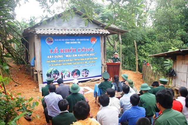 Khởi công xây dựng nhà mới cho học sinh nghèo