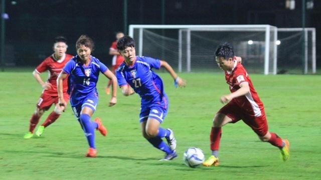 Đội tuyển bóng đá nữ Việt Nam không thể vượt qua Đài Bắc Trung Hoa ở tứ kết Asiad 2018
