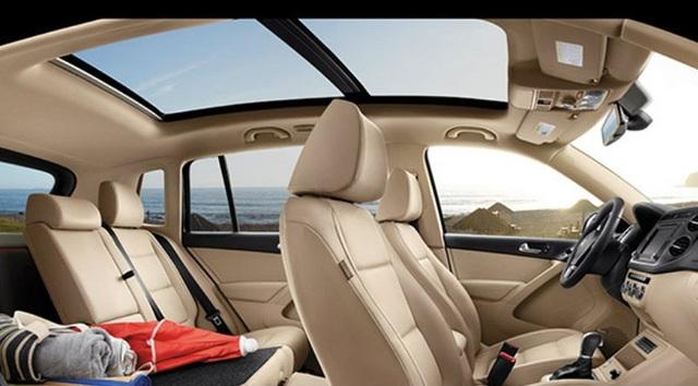 Hệ thống cửa sổ trời toàn cảnh trên Volkswagen Tiguan
