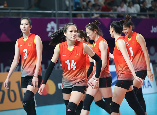 Các cô gái đội tuyển bóng chuyền nữ Việt Nam đã chơi đầy cố gắng