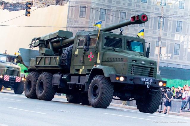 Pháo tự hành 2S22 Bogdana 155 mm (Ảnh: Defense Blog)