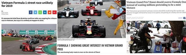 Truyền thông nước ngoài đưa tin về khả năng tổ chức F1 tại Việt Nam.