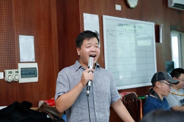 Đăng Dương phấn khích tại buổi tập luyện