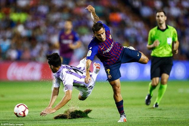 Coutinho và đồng đội đã có thế trận áp đảo trước Valladolid
