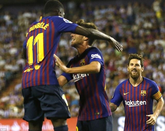 Dembele ghi bàn thắng duy nhất cho Barcelona