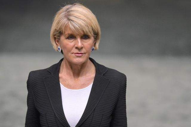 Ngoại trưởng Australia Julie Bishop tuyên bố từ chức. (Ảnh: Reuters)