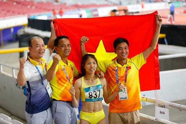 Bùi Thị Thu Thảo giành huy chương vàng môn nhảy xa ở Asiad 2018