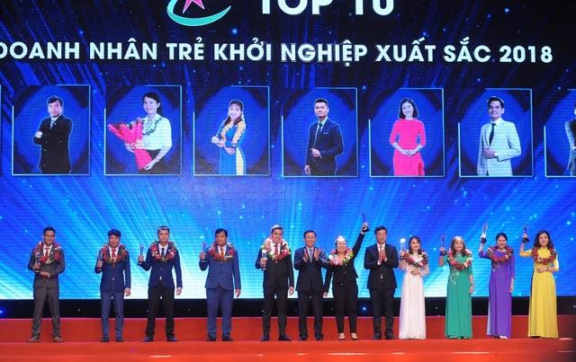 Top 10 Doanh nhân trẻ khởi nghiệp xuất sắc 2018
