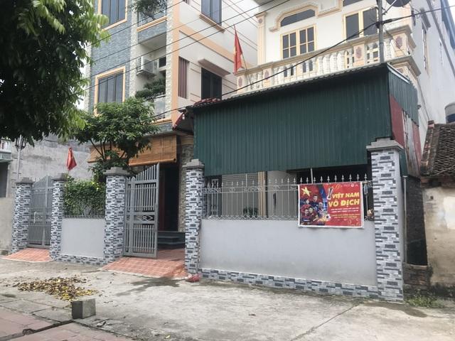 Ngôi nhà của gia đình cầu thủ Quang Hải ở thôn Đường Nhạn, xã Xuân Nộn, Đông Anh, TP. Hà Nội.
