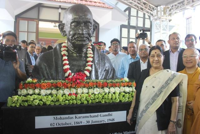 Ngoại trưởng Sushma Swaraj bày tỏ vui mừng trước sự phát triển của Việt Nam, đồng thời cho biết trong nhiệm kỳ của Thủ tướng Narendra Modi, quan hệ chính trị và thương mại Việt - Ấn đã có những bước phát triển nhảy vọt.