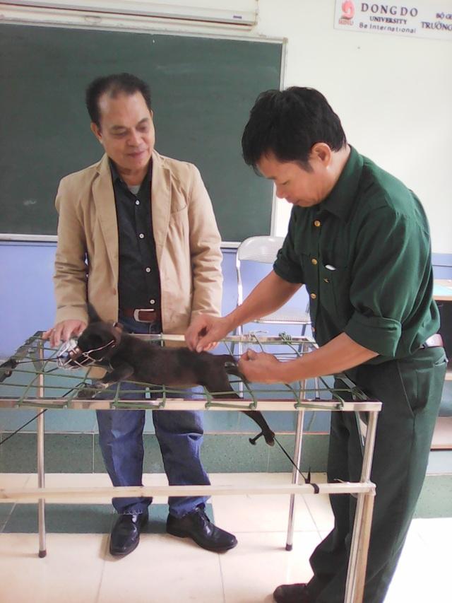 Thầy giáo TS. Nguyễn Hùng Nguyệt hướng đẫn học viên.