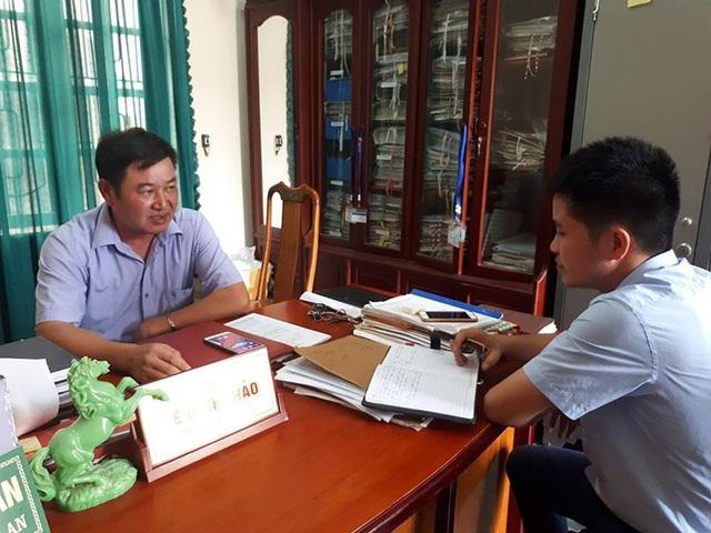 PV Dân trí làm việc với ông Lê Đình Thảo.