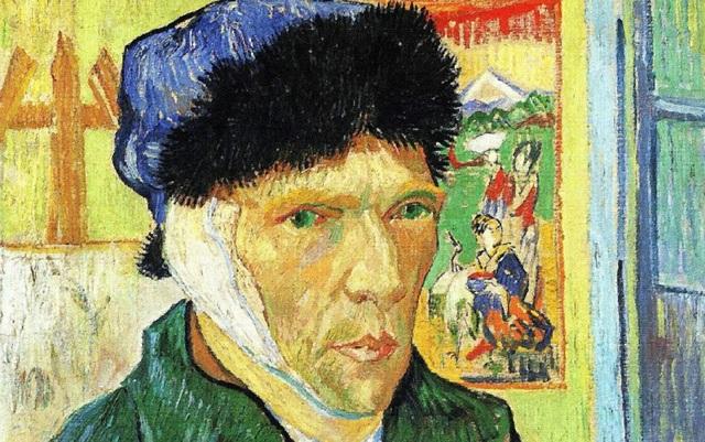 """Van Gogh trong bức """"Tự họa với băng tai"""" (1889)"""
