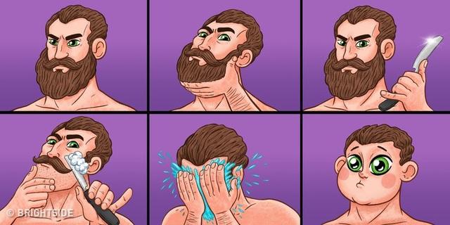 Sự thật là không cần đến các loại mỹ phẩm đắt tiền như phụ nữ, đàn ông vẫn có thể khiến mình trẻ ra cả chục tuổi chỉ trong tích tắc bằng việc cạo râu.