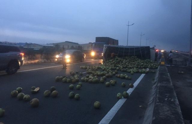 Hàng trăm quả dừa lăn lóc đầy đường