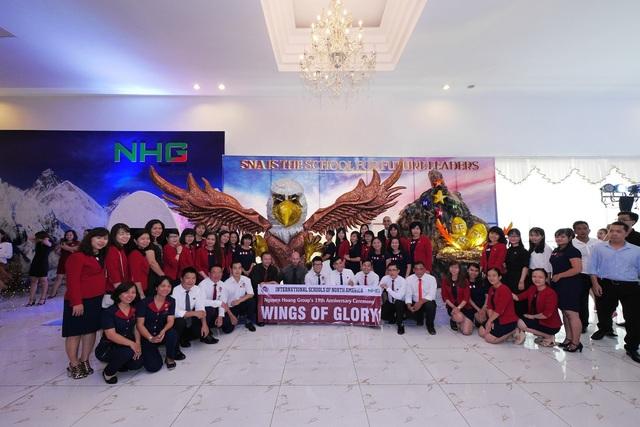 """Tác phẩm Tổ Đại bàng của Trường quốc tế Bắc Mỹ (SNA) đạt giải quán quân trong Hội thi """"Chung tay xây tổ Đại bàng"""" do NHG tổ chức nhân dịp sinh nhật."""