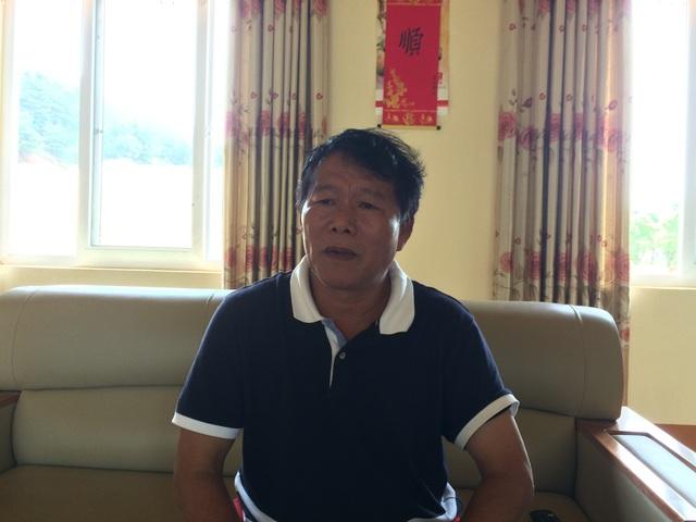 Ông Đường Ngọc Sơn- đại diện Công ty TNHH Kim Long trao đổi với PV Dân trí sáng 28/8 (Ảnh: T.K).