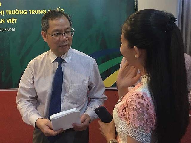 Ông Vĩ Tích Thành gợi ý DN Việt nên chủ động tiếp cận kênh bán hàng trên các trang thương mại điện tử TQ. Vì đây là kênh bán hàng tốt và quảng bá sản phẩm VN đến tận tay người tiêu dùng TQ. Ảnh: QH