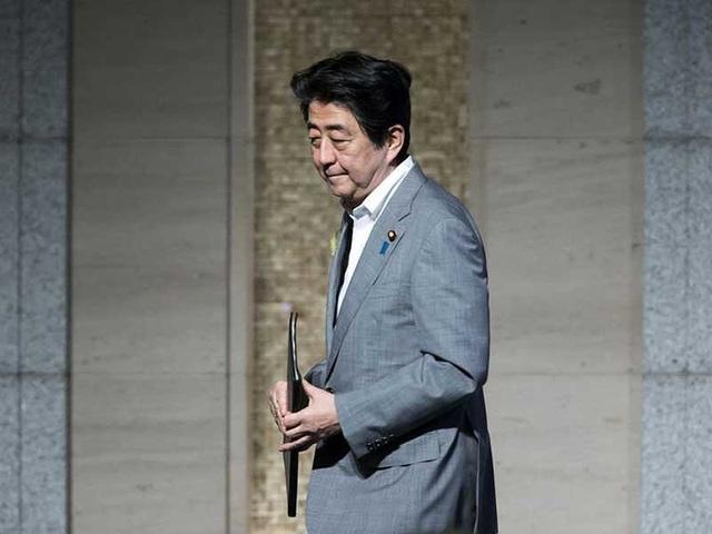Thủ tướng Nhật Bản Shinzo Abe . Ảnh: BLOOMBERG