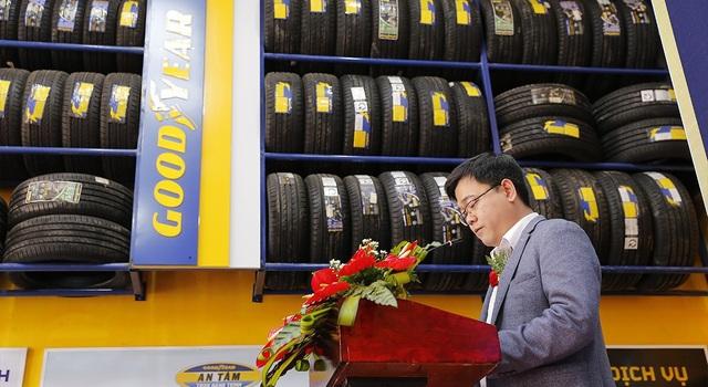 Tổng Giám đốc Goodyear Việt Nam - ông Trịnh Khánh Hoàng phát biểu trong lễ khai trương