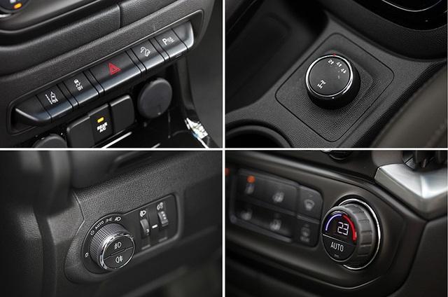 Các thiết kế đầy nam tính và tiện lợi trên Chevrolet Trailblazer.
