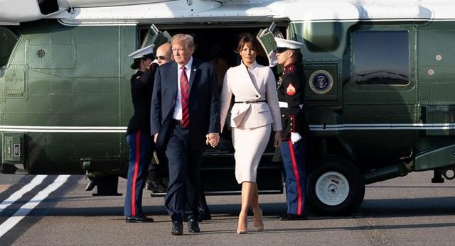 Tổng thống Mỹ Donald Trump và phu nhân