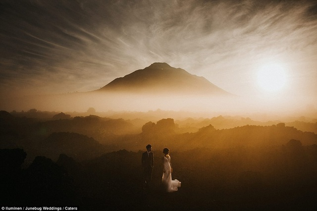 Cảnh núi non ở Kintamani, Bali, Indonesia.