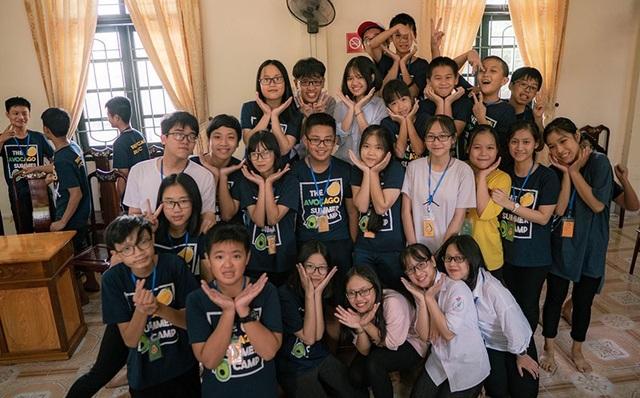 Trại hè thu hút 30 em học sinh từ 11-14 tuổi tham gia.