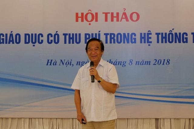GS Nguyễn Lân Dũng, Ủy viên Hội đồng Quốc gia Giáo dục và Phát triển nhân lực phát biểu.
