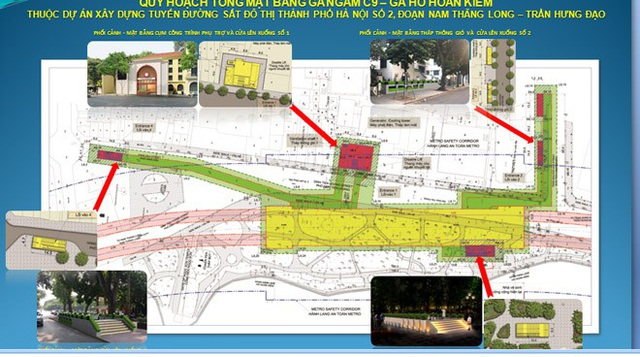 Phương án quy hoạch tổng mặt bằng nhà ga C9 trên đường Đinh Tiên Hoàng được trưng bày để lấy ý kiến người dân