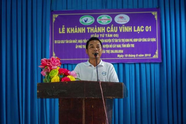 Ông Nguyễn Văn Chương thay mặt Câu lạc bộ Golf Tân Sơn Nhất phát biểu.