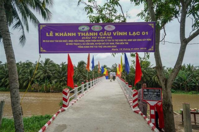 Hình ảnh cầu Vĩnh Lạc 01 (Cầu Từ Tâm 05) mới được xây dựng.