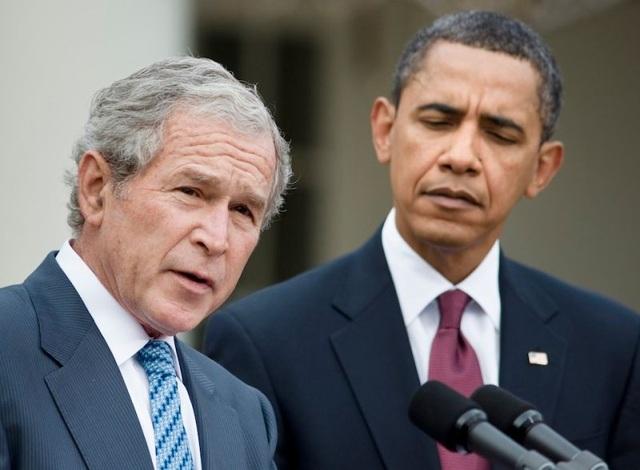 Cựu Tổng thống George W. Bush và Barack Obama được mời đọc điếu văn tại lễ tang Thượng nghị sĩ John McCain. (Ảnh: EPA)