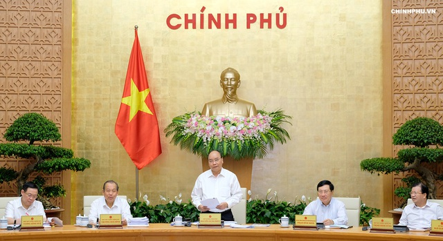 Thủ tướng chủ trì phiên họp Chính phủ thường kỳ tháng 8/2018