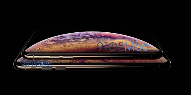 Hình ảnh bộ đôi iPhone XS bị rò rỉ, cho thấy tùy chọn kích thước và màu mới.