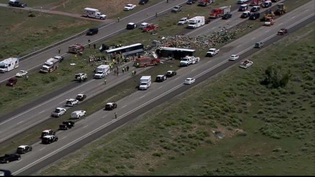 Vụ tai nạn nghiêm trọng xảy ra trên đường cao tốc 40 tại bang New Mexico, gần biên giới bang Arizona, vào chiều ngày 30/8 giờ Mỹ.