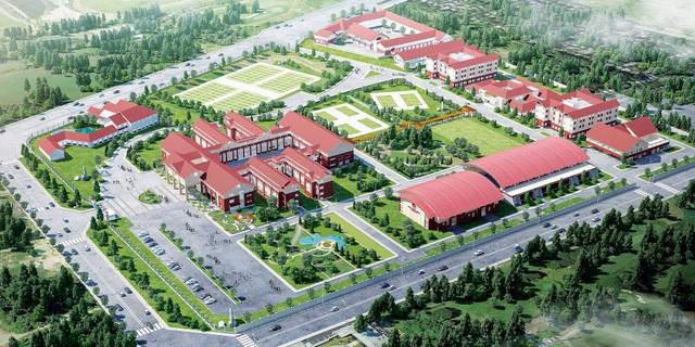 Trường Tiểu học, THCS và THPT Hoàng Việt với quy mô trên 10ha