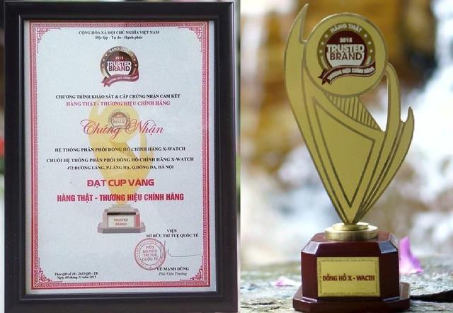 Xwatch nhận giải thưởng Hàng thật – Thương hiệu chính hãng năm 2015