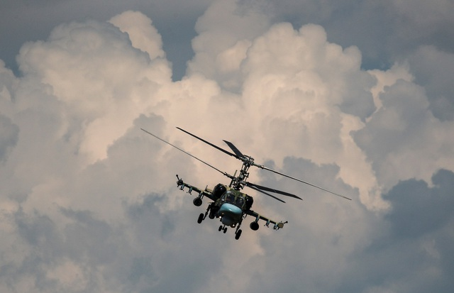 Giải đấu quân sự quốc tế (IAG) là cuộc thi do Bộ Quốc phòng Nga khởi xướng với nhiều nội dung thi dành cho các lực lượng quân sự từ nhiều quốc gia. Trong ảnh: Trực thăng quân sự Kamov Ka-52.