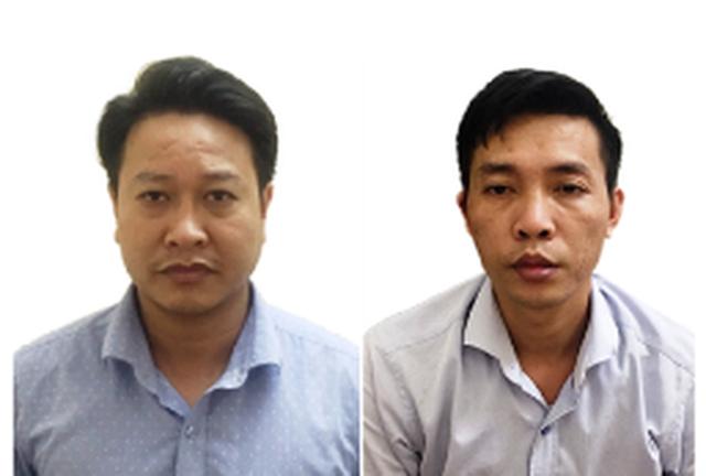 Nguyễn Khắc Tuấn (trái) và Đỗ Mạnh Tuấn (phải).